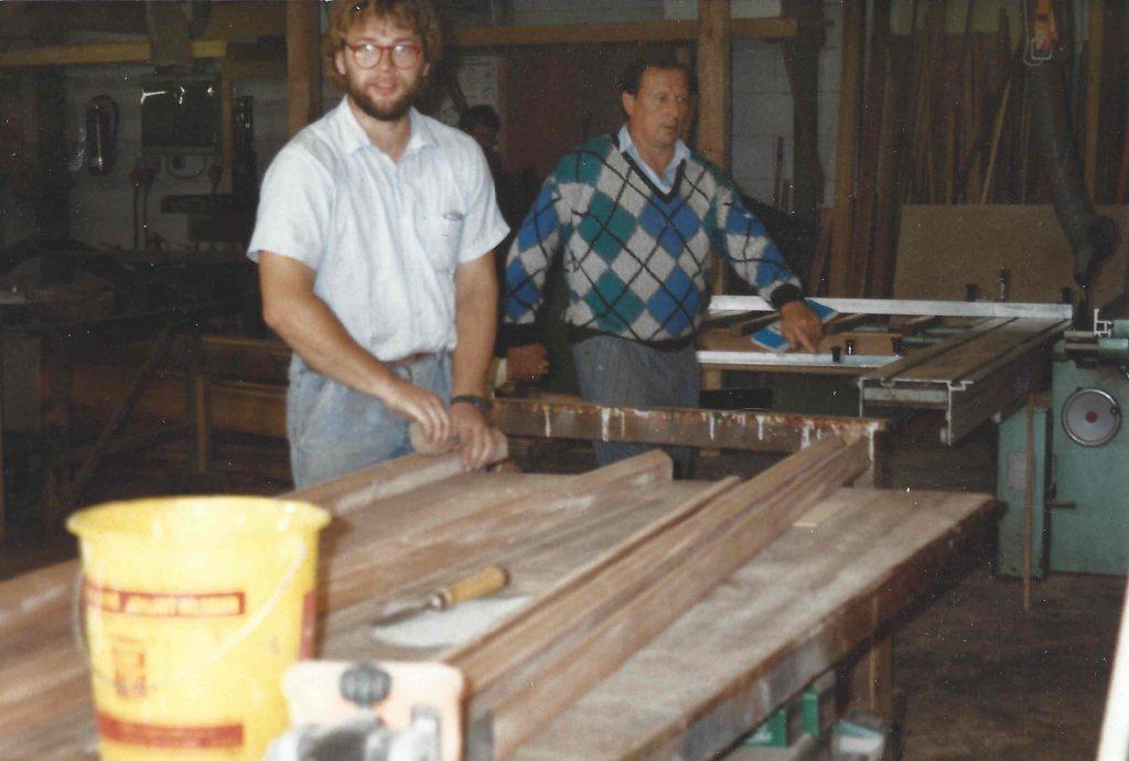 Peter Hagelstein 1986 - zweiter Angestellte bei SchulzeBraak | Geschichte