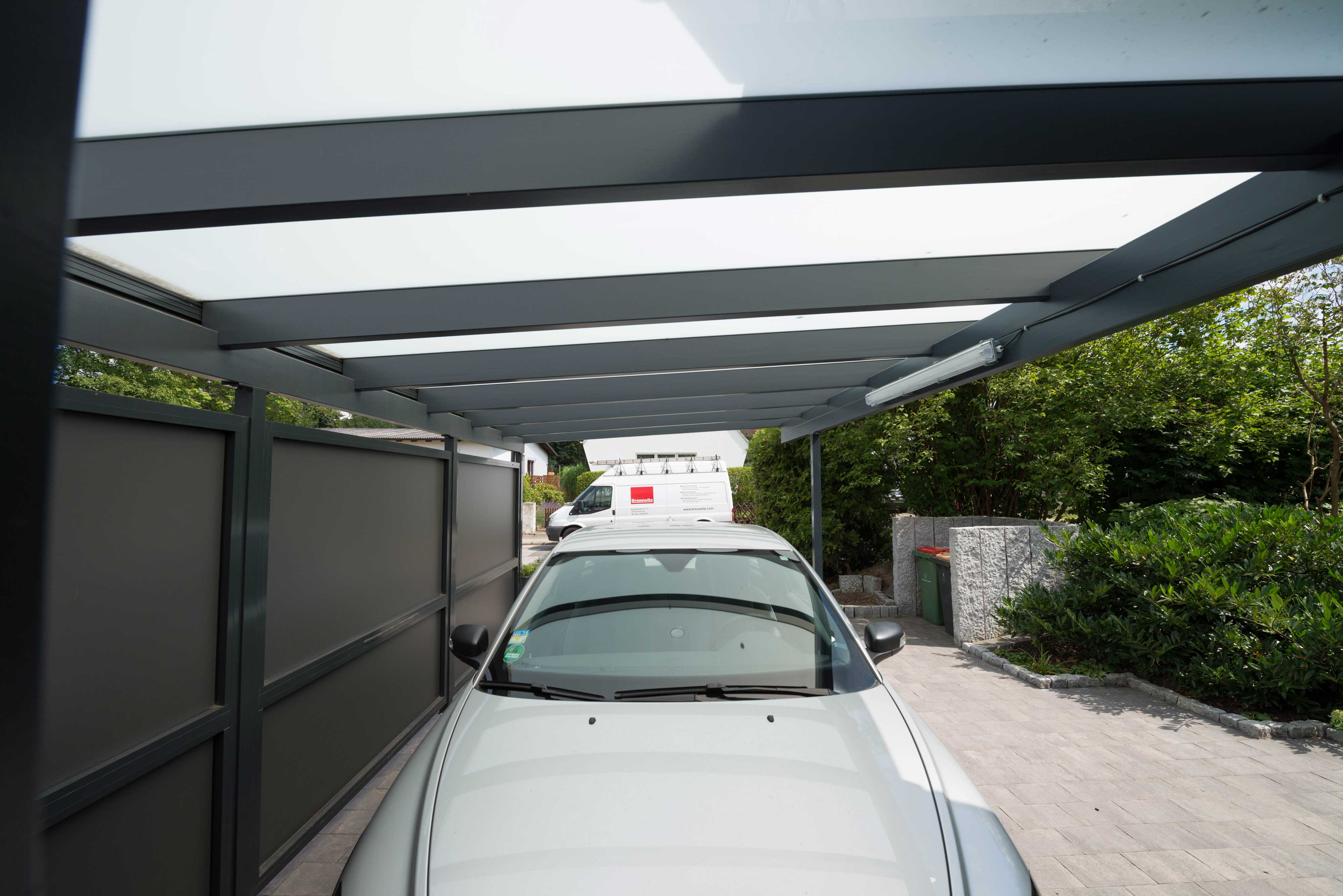 glasdach carport in hamburg schulze braak. Black Bedroom Furniture Sets. Home Design Ideas