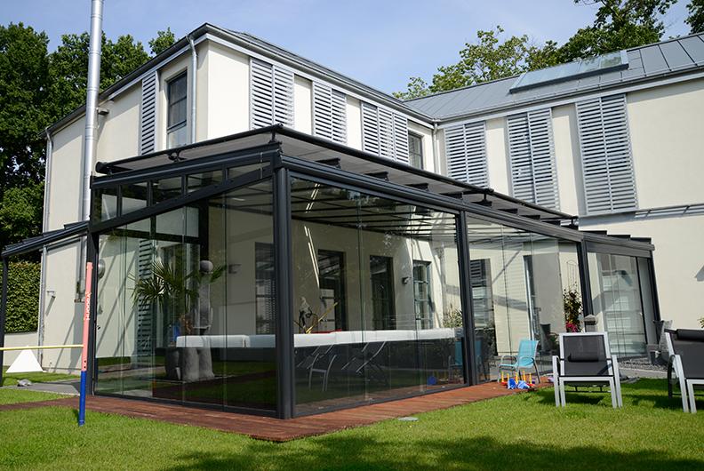 Glasoase mit einer Beschattung auf dem Dach | Ratgeber SchulzeBraak Hamburg