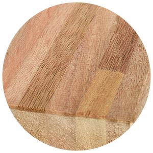Ansicht Holz Meranti