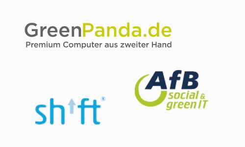 Logo Greenpanda, shift, afb